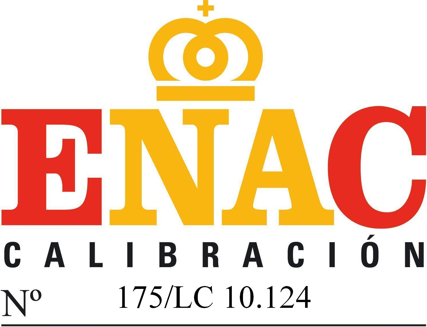 ENAC accreditation of the Calibration Laboratory 10/2007, with the registration number 175/LC10.124